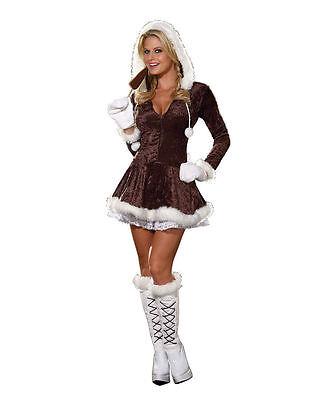 Eskimo Cutie Womens Costume Dreamgirl 4550 sizes xs,m,L (Eskimo Cutie Costume)