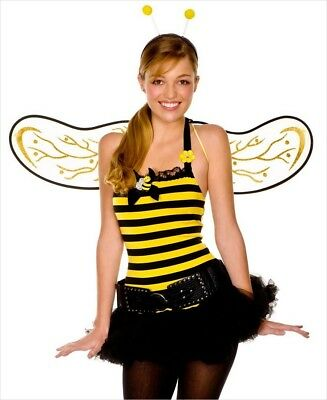 Music Legs Bumble Bee Fancy Dress Costume Outfit Hen Night Size XS UK 6-8.