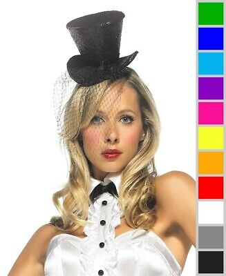 New Leg Avenue 2063 Mini Top Hat With Veil - Top Hat With Veil
