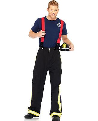 Fire Captain Costume Deluxe for Men size M/L New by Leg Avenue 83684 (Fire Captain Costume)