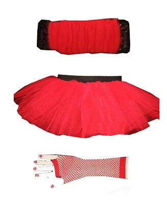 inwärmer Fischnetz Handschuhe Junggesellinnenabschied (Rot Fischnetz Handschuhe)