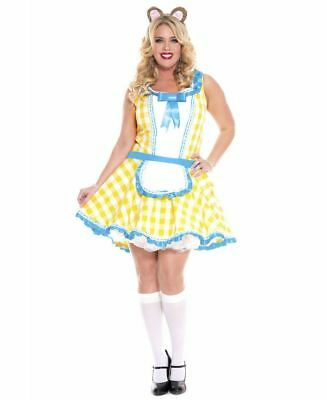 Plus Size Glistening Goldie Locks Costume - Music Legs - Goldie Locks Costumes