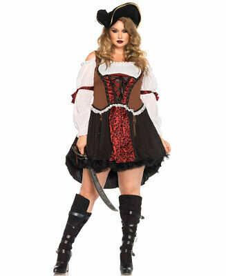 Plus Size Ruthless Pirate Wench Halloween Costume - Leg Avenue (Pirate Wench Kostüm Plus)