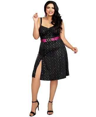 New Dreamgirl 11106X Plus Size Disco Diva 70's Costume