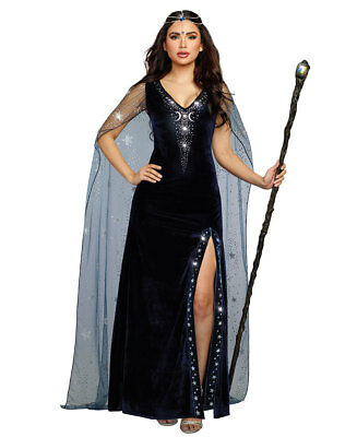 New Dreamgirl 11149 The Sorceress Dramatic Witch Costume