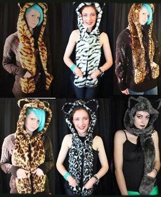 opard Tiger Wolf Cheetah kuschlig Pelzig mit Ohr (Cheetah Ohren)