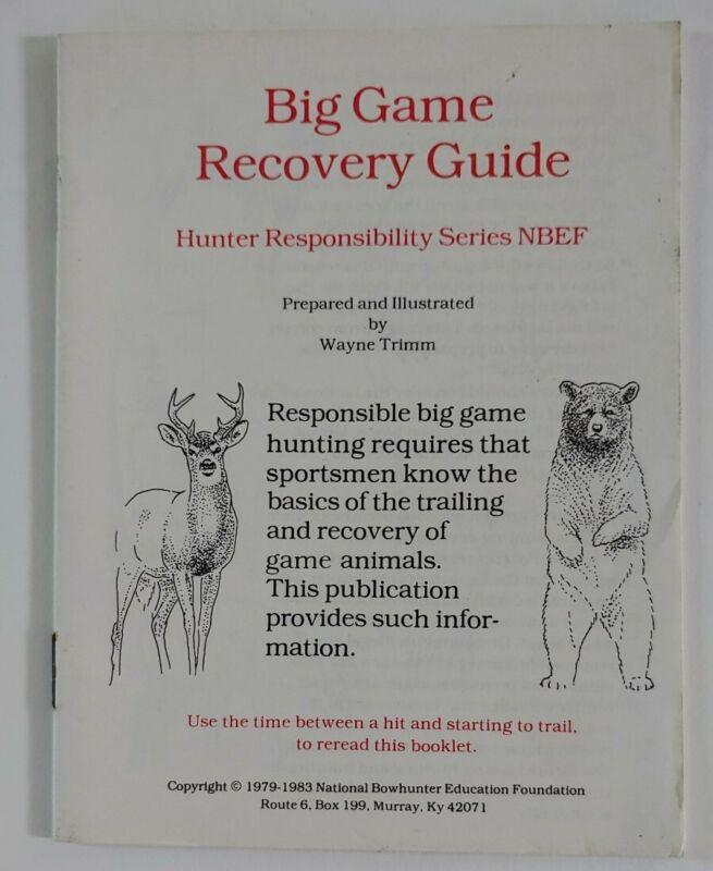 Vintage Manual Big Game Recovery Guide Nova Scotia Wayne Trimm