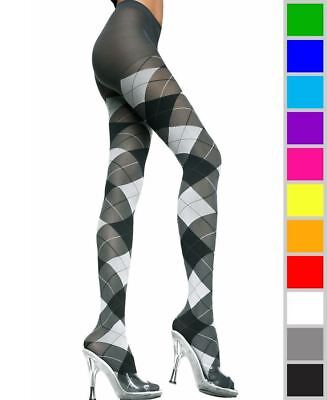 New Music Legs 7013 Opaque Argyle (Argyle Tights)