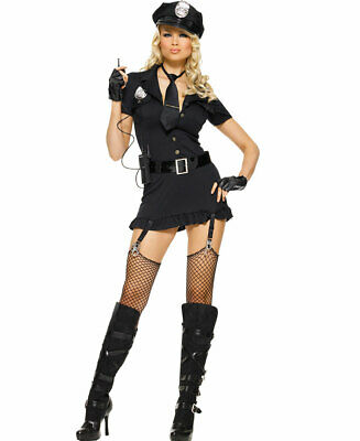 Dirty Adult Halloween Costumes (New Leg Avenue 83344 Dirty Cop Sexy Adult Halloween)