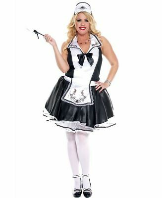 Plus Size Elegant French Maid Costume - Music Legs 70633Q - French Maid Costumes Plus Size