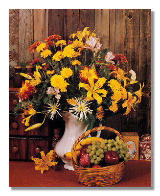 - Flower Arrangement Fruit on Table Floral #2 Photo Wall Picture 8x10 Art Print