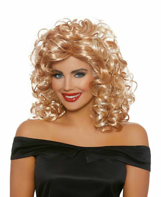 1950s Halloween Wigs (Dreamgirl 1950's Sandy Blonde Curly Halloween Costume Wig Women's)