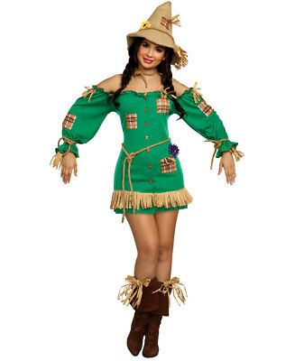 Dreamgirl Sexy Scarecrow Wizard of Oz Dress Adult Womens Halloween Costume 11156](Wizard Of Oz Halloween Costume)