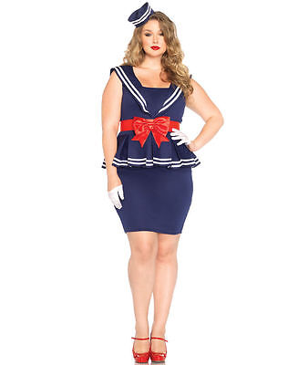 Aye Aye Amy Plus Size Sailor Costume for Women (all sizes) New Leg Avenue 85403 - Plus Size Womens Sailor Costume