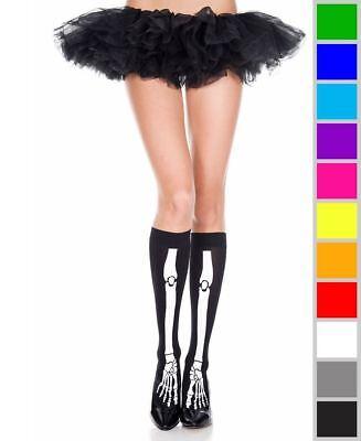New Music Legs 5305 Skeleton Print Knee High Socks (Skeleton Knee High Socks)