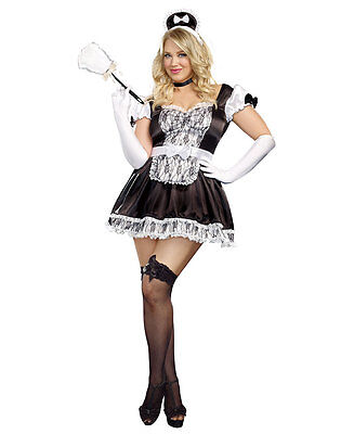 New Dreamgirl A9507X Plus Size Maid For You Costume](Plus Size Maid Costumes)