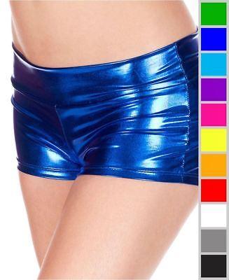 New Music Legs 141 Metallic Booty Shorts