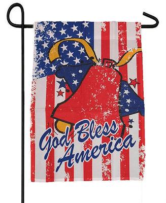 FOURTH 4TH OF JULY GOD BLESS BELL GARDEN BANNER/FLAG 12