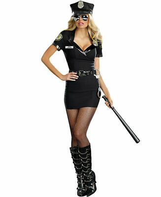 Officer Dirty Cop Costume (Dreamgirl Dirty Cop Officer Anita Bribe Adult Women's Costume Sexy Police)
