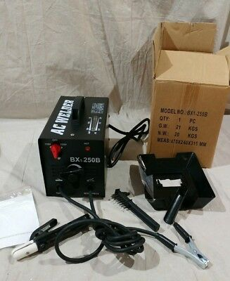 Ac Welding Arc Welder Model Bx1-250b With Face Mask And Brush