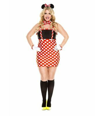 Plus Size Darling Minnie Mouse Costume - Music Legs 70617Q - Minnie Mouse Costume Plus Size