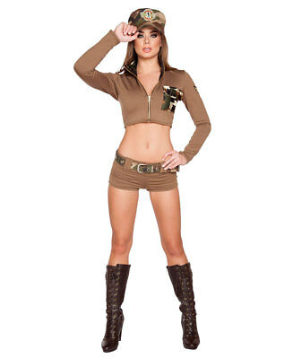 New Roma Costume 4591 Sexy Soldier Babe Costume (Woman Soldier Costume)