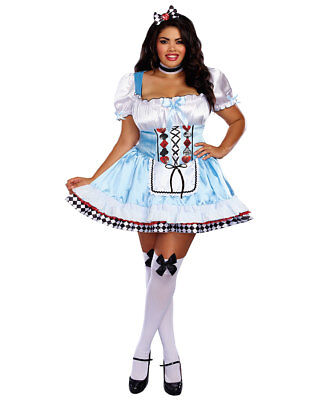 Alice Plus Size Costume (New Dreamgirl 10668X Plus Size Beyond Wonderland Alice)
