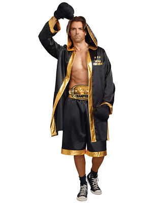 New Dreamgirl 10322 World Champion Boxer Mens Costume