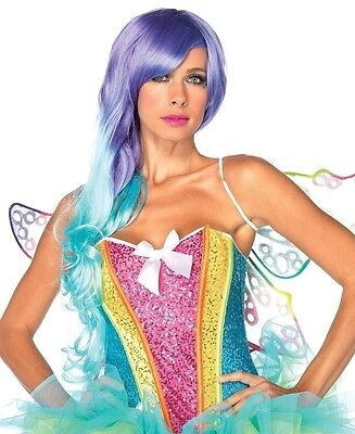 Sexy Rainbow Sequin Bustier Corset with Support Boning Adult Costume Corsets