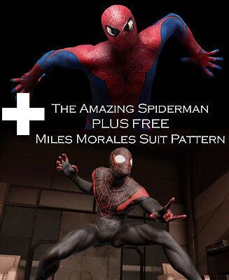 Amazing Spider Man 2012 Suit Costume Pattern PLUS FREE Miles Morales Pattern!
