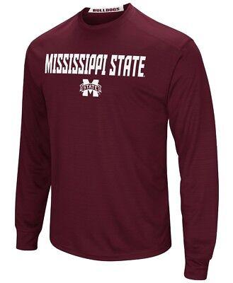 Mississippi State Bulldogs Ncaa Power Set Mens Long Sleeve Performance T Shirt