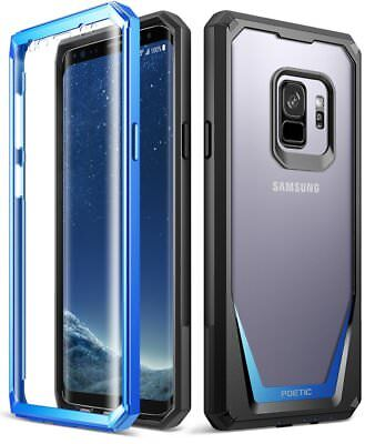 Poetic Guardian Blue Case Full Body Rugged Case For Samsung Galaxy S9  2018