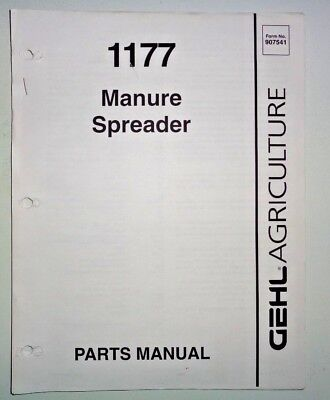 Gehl 1177 Manure Spreader Parts Manual Catalog Book