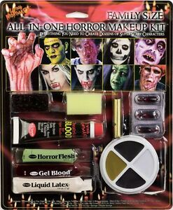All in One Makeup Kit - Fun World - Halloween Horror Special FX Zombie Monster