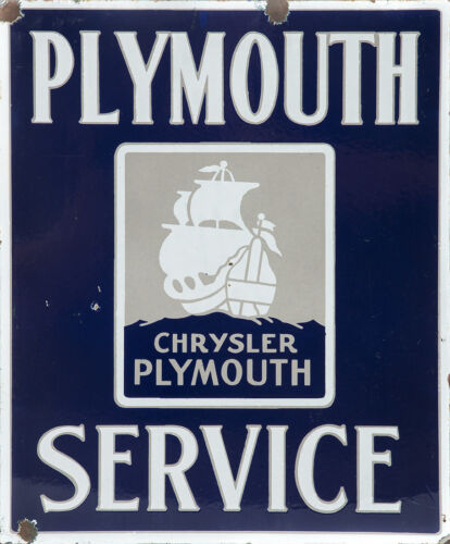 """PLYMOUTH SERVICE"" ADVERTISING METAL SIGN"