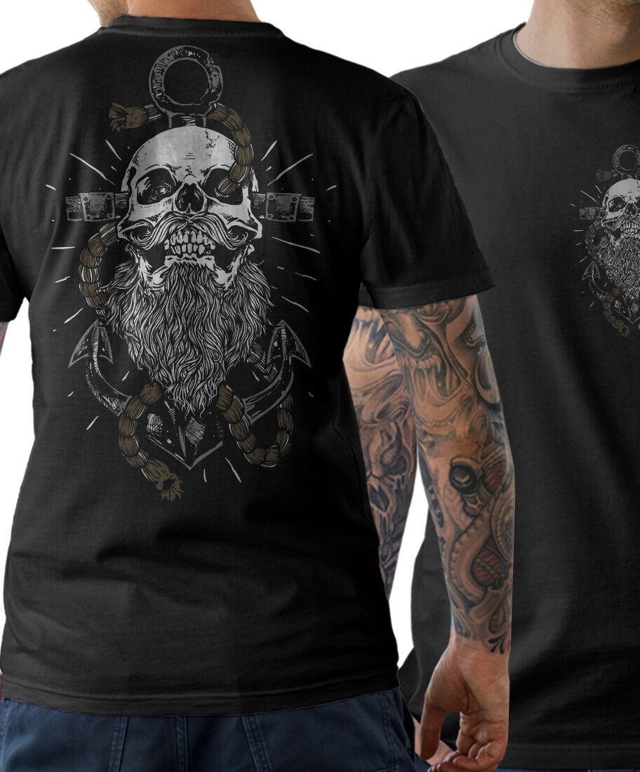 Sailor Beard T-SHIRT Anker Captain Skull Vollbart Kapitän Ahoi Herren S-XXXXXL