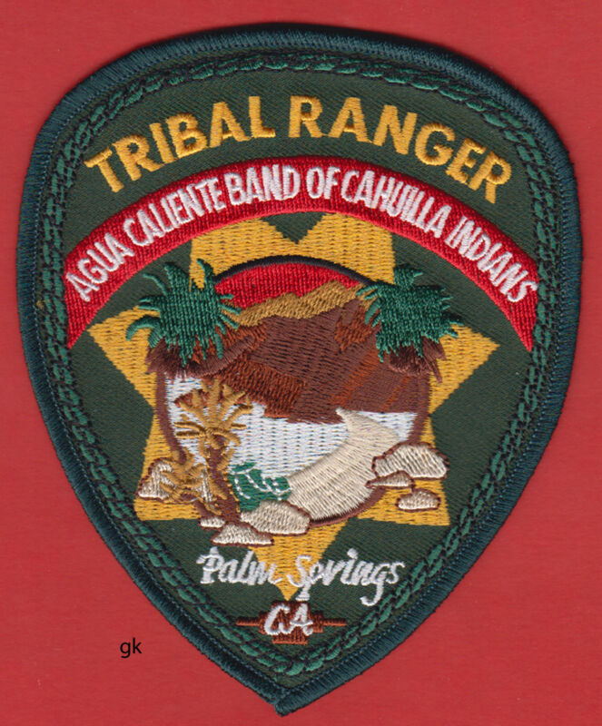CAHUILLA INDIANS  TRIBAL RANGER PALM SPRINGS CALIFORNIA POLICE PATCH
