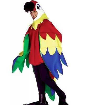 Deluxe Adult Parrot Costume Mens Womens Bird Animal Cosplay Outfit