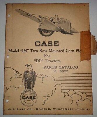Case Model Im Corn Picker Parts Catalog Manual Book Original Fits Dc Tractors