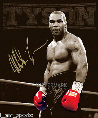 MIKE TYSON SIGNED HEAVYWEIGHT CHAMPION BOXER 8x10 REPRINT PHOTO RP