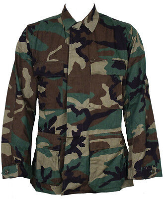 Nyco Ripstop Shirt - GI Woodland BDU Shirt Nyco/Twill Or RIpstop  Genuine Issue Used Good