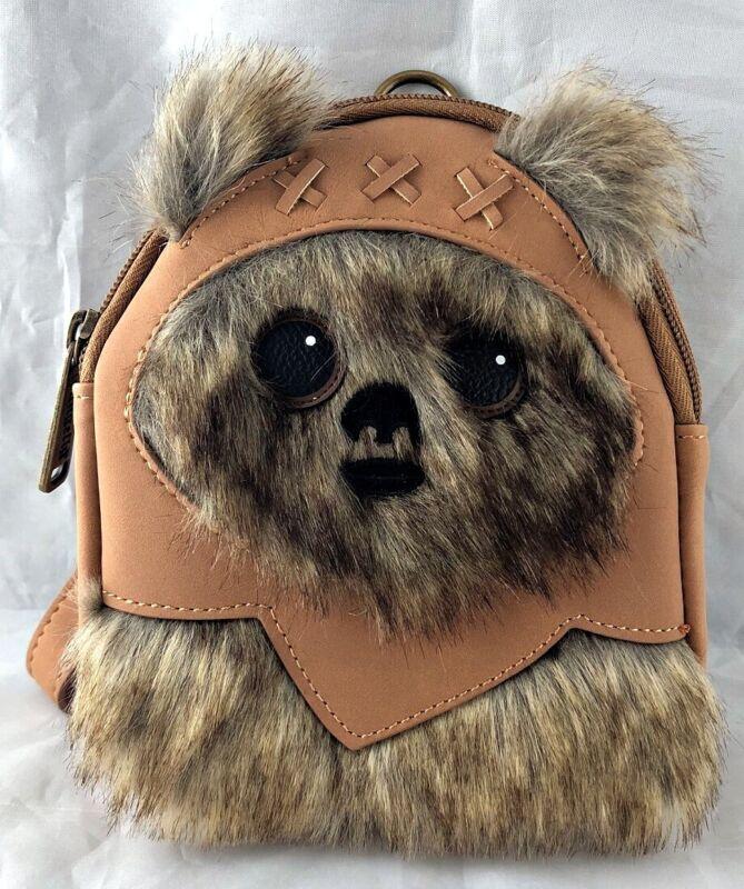 Disney Parks Star Wars Ewok Yub Nub Loungefly Backpack Wristlet Bag - NEW