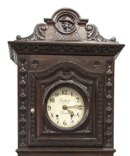 FRENCH BRETON STANDING CARVED LONG CASE CLOCK, 19th century ( 1800s )