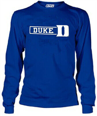 Duke Blue Devils Men's Royal Setin Synthetic Long Sleeve T Shirt Duke Blue Devils T-shirt