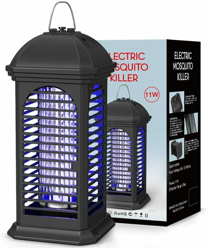 Electric Mosquito Zapper 11W Powerful 4200V Insect Killer Safety Fly Repelled