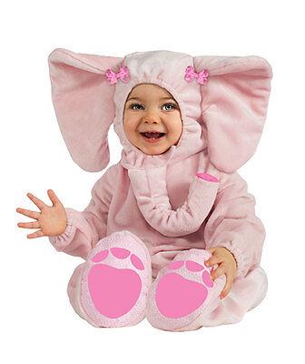 RUBIE'S ELLA-FUN BABY COSTUME! PINK ELEPHANT JUMPSUIT NEW [SIZE 12-18 MONTHS] - Pink Elephant Baby Costume