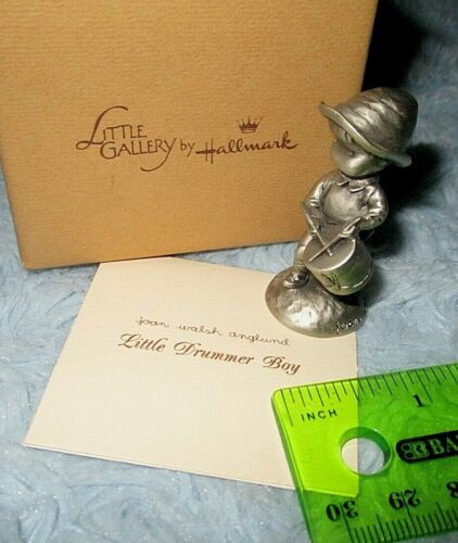 Hallmark 1983 Christmas LITTLE DRUMMER BOY Anglund Mini Pewter Figurine USA NIB