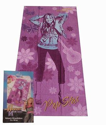 Hannah Montana Strandtuch (Hannah Montana Velour Strandtuch 75x150cm - Handtuch Strandlaken Badetuch)