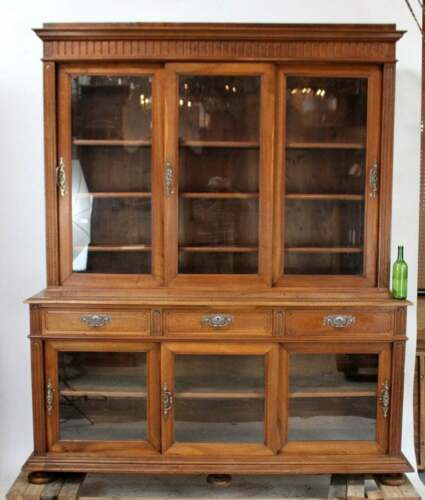 Massive, French Walnut Apothecary Cabinet with Sliding Doors ~ Late 19th century