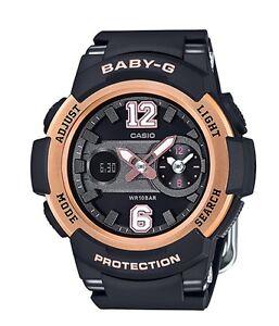 Casio-Baby-G-BGA210-1B-Dual-Dial-Black-Rose-Gold-Anadigi-COD-PayPal